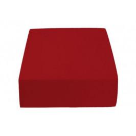 Jersey prostěradlo vínové 180 x 200 cm Gramáž (hustota vlákna): Standard (145 g/m2)