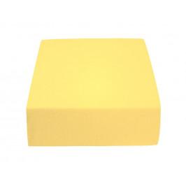 Jersey prostěradlo světle žluté 180 x 200 cm Gramáž (hustota vlákna): Standard (145 g/m2)