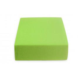 Jersey prostěradlo zelené 180 x 200 cm Gramáž (hustota vlákna): Standard (145 g/m2)
