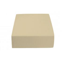 Jersey prostěradlo béžové 90 x 200 cm Gramáž (hustota vlákna): Lux (190 g/m2)