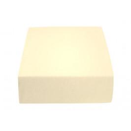 Jersey prostěradlo krémové 180 x 200 cm Gramáž (hustota vlákna): Standard (145 g/m2)