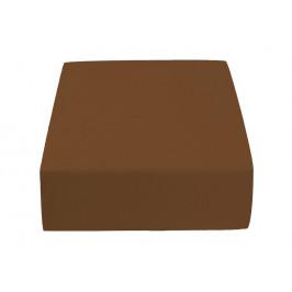 Jersey prostěradlo tmavě hnědé 180 x 200 cm Gramáž (hustota vlákna): Standard (145 g/m2)