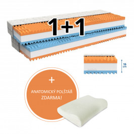 MPO Matrace Matrace 1+1 FANTASY 2 ks 160 x 200 cm Potah matrace: Medico - standardní