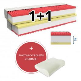 MPO Matrace Matrace 1+1 MEMORY COMFORT 2 ks 90 x 200 cm Potah matrace: Medico - standardní