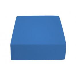 Jersey prostěradlo tmavě modré 140 x 200 cm