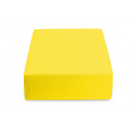 Jersey prostěradlo žluté 140 x 200 cm