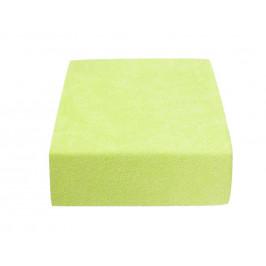 Froté prostěradlo zelené 200x220 cm