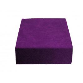 Froté prostěradlo tmavě fialové 200x220 cm