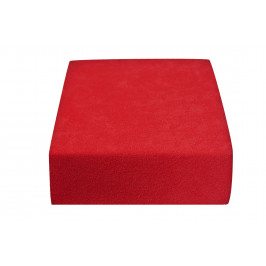 Froté prostěradlo červené 140x200 cm