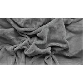 Prostěradlo mikroplyš 180x200 cm tmavě šedé