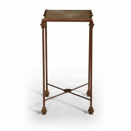 Kovový květinový stolek.