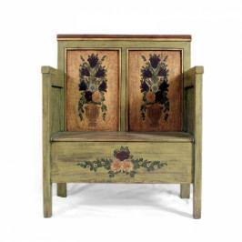Malovaná lavice s truhlou