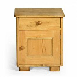 Originální přírodní noční stolek