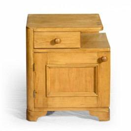 Originální světlý noční stolek
