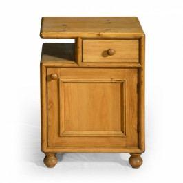 Originální dřevěný noční stolek