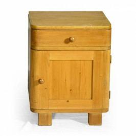 Dřevěný originální noční stolek.