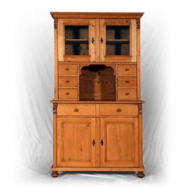 Příborník - kuchyňský kredenc z masivního smrkového dřeva