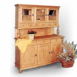 Příborník - kuchyňský kredenc z masivního smrkového dřeva.