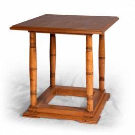 Starožitný stůl ze smrkového dřeva po celkové opravě.