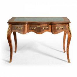 Vykládaný psací stůl s kováním - o období Ludvíka XV