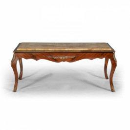 Vykládaný stolek s mramorovou deskou