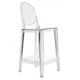 Culty Transparentní plastová barová židle One