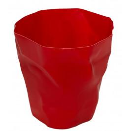 Culty Červený plastový odpadkový koš Crum