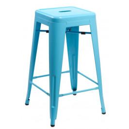 Culty Modrá kovová barová židle Tolix 66