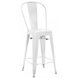 Culty Bílá kovová barová židle Tolix