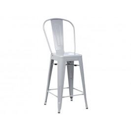 Culty Šedá kovová barová židle Tolix