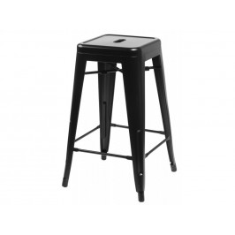 Culty Černá kovová barová židle Tolix 75