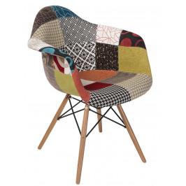 Culty Designová patchwork čalouněná jídelní židle DAW