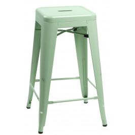 Culty Zelená kovová barová židle Tolix 75