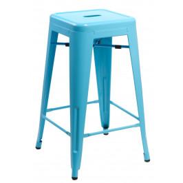 Culty Modrá kovová barová židle Tolix 75