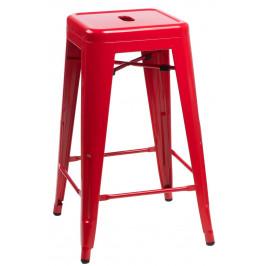 Culty Červená kovová barová židle Tolix 75