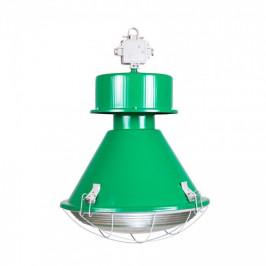 Culty Zelené industriální závěsné světlo Saturnia 50 cm