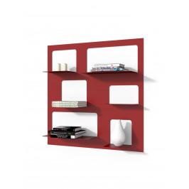 Culty Designová knihovna Marina 3, červená
