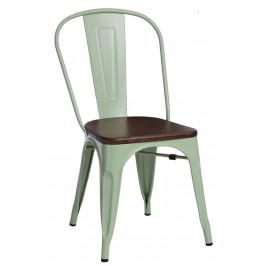 Culty Jídelní židle Tolix 45, tmavě zelená/ořech