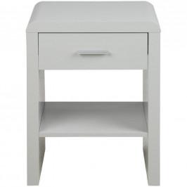 SCANDI Bílý noční stolek Daisy