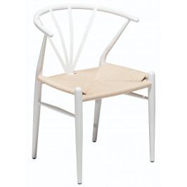 DAN-FORM Bílá jídelní židle DanForm Delta