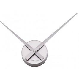 Time for home Stříbrné nástěnné hodiny Pointer 28 cm