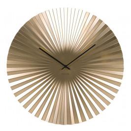 Time for home Zlaté kulaté nástěnné hodiny Trivet 50 cm