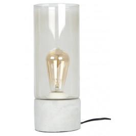 Time for home Šedá skleněná stolní lampa Laky