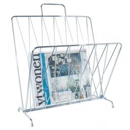 Time for home Stříbrný stojan na časopisy Casner
