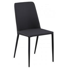 SCANDI Šedá látková jídelní židle Avanda