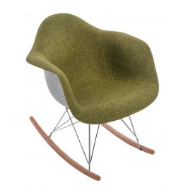 Culty Designové houpací křeslo RAR, šedá/zelená