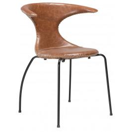 DAN-FORM Světle hnědá kožená židle DanForm Flair
