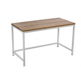 Culty Dubový stůl Practo 120x60 cm s bílou kovovou podnoží