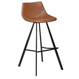 DAN-FORM Světle hnědá čalouněná barová židle DanForm Pitch