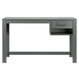 Hoorns Šedý pracovní stůl Koben 125 cm